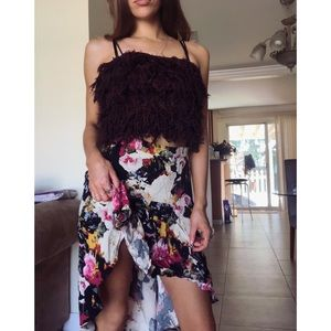 Anthropologie high low gypsy maxi skirt floral 4